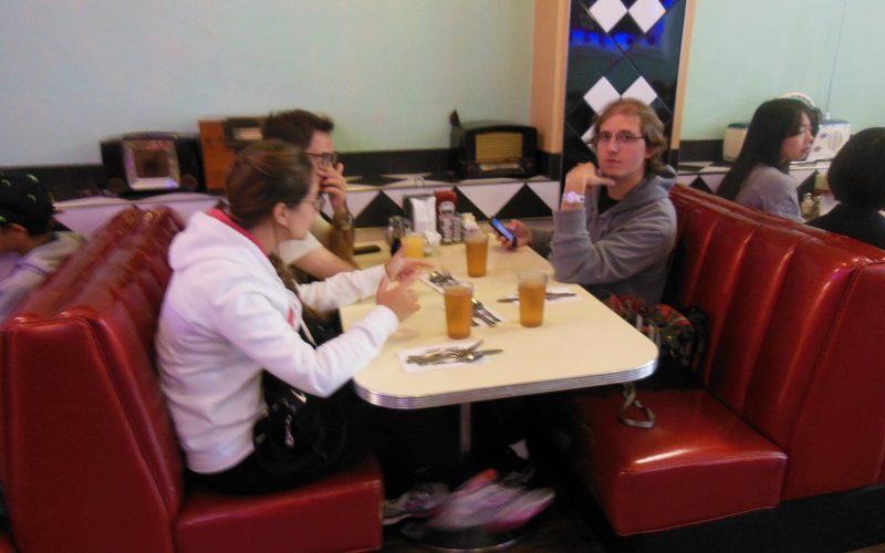 Breakfast time in America